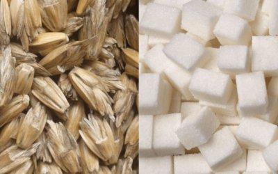 100 gr suiker of 100 gr spelt?